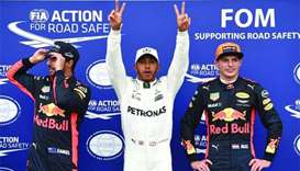 Lewis Hamilton takes record 69th pole position