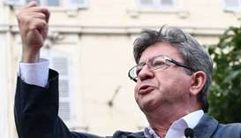 French far-left opposition leader Jean-Luc Melenchon