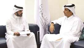 President of the Community College of Qatar (CCQ) Dr Ibrahim bin Saleh al-Nuaimi speaking to Qatar N