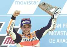 Rossi fifth as Marquez wins Aragon Grand Prix
