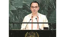 Foreign Affairs Secretary Alan Peter Cayetano addresses the 72nd United Nations General Assembly at