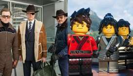 Kingsman: Golden Circle' and 'Lego Ninjago'