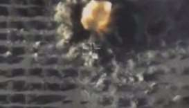A still image taken from a video footage and released by Russia's Defence Ministry on September 25,