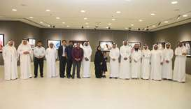 Participants at the launch of the photography exhibition
