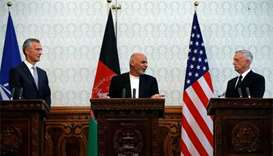 Mattis, Nato chief renew commitment to Afghan conflict