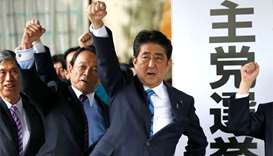 Abe dissolves parliament ahead of tough election battle