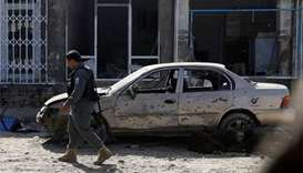 Suicide bomber blows up near mosque in Afghan capital