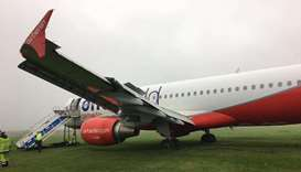 Air Berlin jet overshoots runway on North Sea island; no injuries