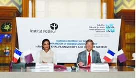 The agreement was signed by HE Sheikha Hind bint Hamad al-Thani and Dr Christian Bréchot.