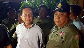 Cambodian opposition leader held over alleged plot with US