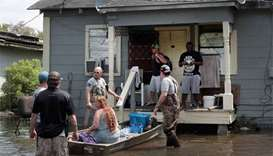 Texans return to their homes to survey damage
