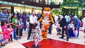 Children had a great time interacting with some of their favourite characters.