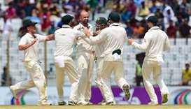 Lyon spin gives Australia crushing win over Bangladesh