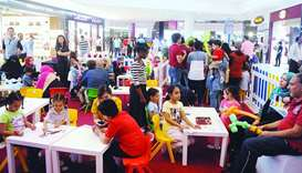 Families throng malls in large number during the Eid al-Adha holidays.