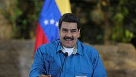 Venezuela's President Nicolas Maduro speaks during a meeting with ministers
