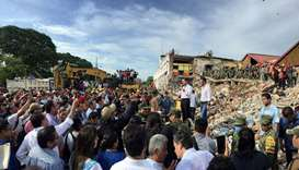 Mexican President Enrique Pena Nieto during a tour of Juchitan following an 8.2 magnitude earthquake