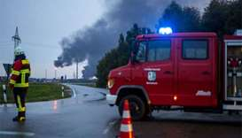 Eight injured in blast, blaze at German refinery