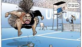 The cartoon published of US tennis player Serena Williams in the controversial final of the US Open