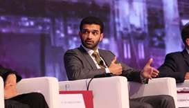 Hassan al-Thawadi during the panel discussion