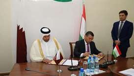 HE Sheikh Ahmed and Hikmatullozoda sign an agreement on the sidelines of the the third session of th