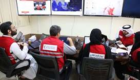 QRCS- Disaster information management centre in Doha.