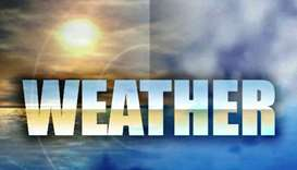 Chances of scattered rain, strong winds