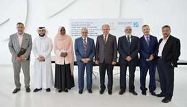 HBKU and Al Jamia Al Islamiya officials at the signing ceremony