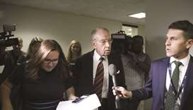 Senator Chuck Grassley speaks with reporters on Capitol Hill in Washington, DC.