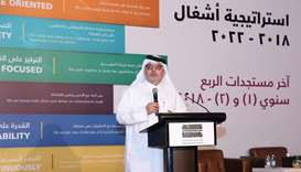 Ashghal president Saad bin Ahmed al-Mohannadi addressing the meeting.