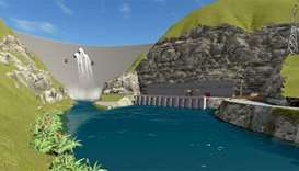Artist's impression of the Budhi Gandaki hydropower project.