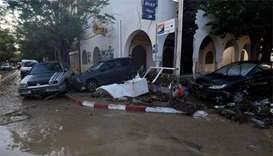 Record rains in Tunisia leave four dead, damage roads