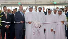 HE the Minister of Municipality and Environment Mohamed bin Abdullah al-Rumaihi leads the ribbon cut