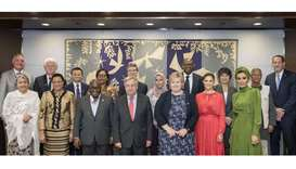 Her Highness Sheikha Moza participates in UN Sustainable Development Goals Advocacy Meeting