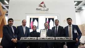 Qatar Rail officials with the design of Doha Metro and award the company received at the InnoTrans I