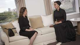 Her Highness Sheikha Moza meets First Lady of Paraguay