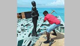 Police in Maldives destroy statues deemed offensive