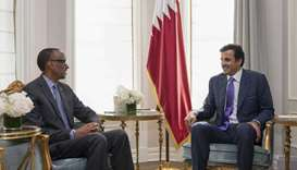 His Highness the Amir receives President of Rwanda