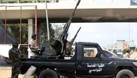 Libyan militiamen loyal to the Government of National Accord (GNA), Libya's internationally recognis