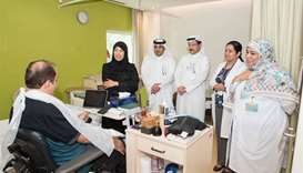 Health Minister visits HMC's Enaya Specialised Care Centre