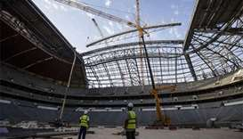 Roof installation brings Al Bayt Stadium's design to life
