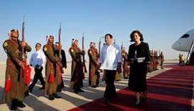 Philippines' Duterte arrives in Jordan for four-day visit