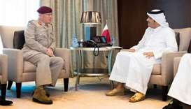 Foreign Minister meets UK senior defence adviser
