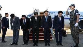South Koreans arrive in North amid stalled denuclearisation talks