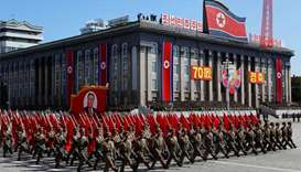 No missile display as N Korea holds 70th anniversary parade