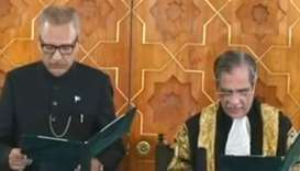 Arif Alvi sworn in as Pakistan's 13th president