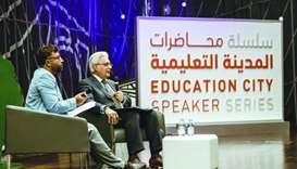 Ovais Sarmad (right), deputy executive secretary of the United Nations Framework Convention on Clima
