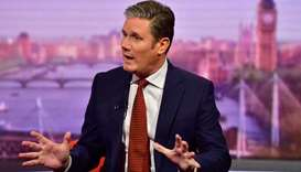 Labour Party's Shadow Secretary of State for Brexit Keir Starmer appears on BBC TV's The Andrew Marr