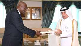 Al-Muraikhi receives credentials of Mexican, Costa Rican, Guinean envoys