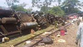 Up to 50 dead in Congo after train derails