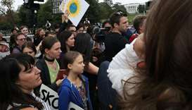 Swedish teen climate activist Greta Thunberg and other environmental advocates join Washington DC-ar